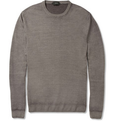 Slowear Zanone Garment Dyed Wool Sweater