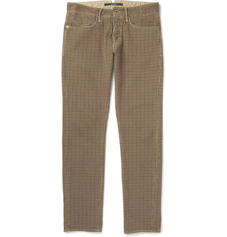 Slowear Incotex Slim-Fit Houndstooth Check Cotton Jeans