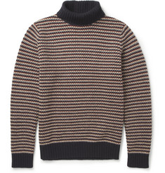 NN.07 Pall Striped Lambswool-Blend Rollneck Sweater