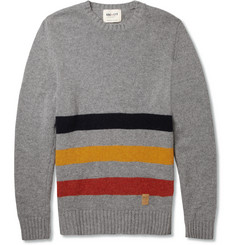 NN.07 Bjarni Striped Wool-Blend Sweater