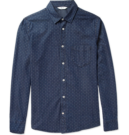 NN.07 Clay Printed Cotton Shirt