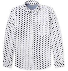 NN.07 Clay Polka Dot-Print Cotton Oxford Shirt