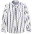 NN07 - Clay Polka Dot-Print Cotton Oxford Shirt