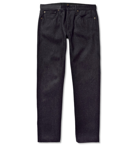 NN.07 James Slim-Fit Flecked-Denim Jeans