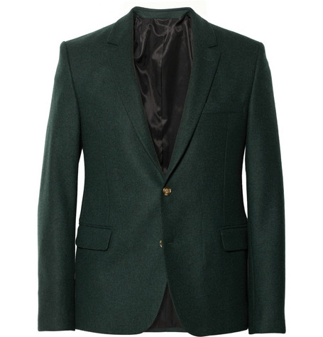 AMI Slim-Fit Wool Suit Jacket