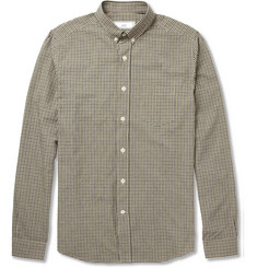 AMI Slim-Fit Gingham-Check Cotton Shirt