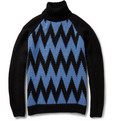 AMI - Chevron-Intarsia Alpaca And Wool-Blend Rollneck Sweater