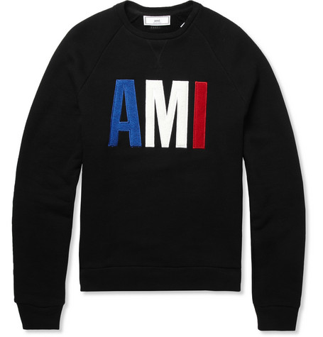 AMI Loopback-Cotton Sweatshirt