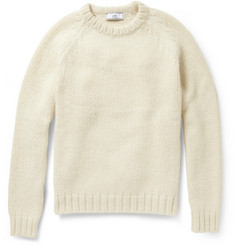 AMI Chunky-Knit Alpaca and Merino Wool-Blend Sweater