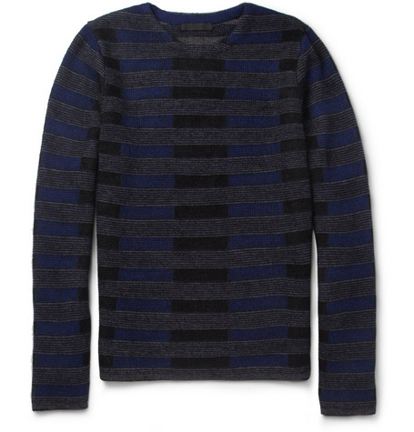 Alexander Wang Jacquard-Knit Wool and Mohair-Blend Sweater