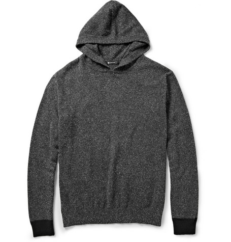 Alexander Wang Knitted Silk and Cotton-Blend Hoodie