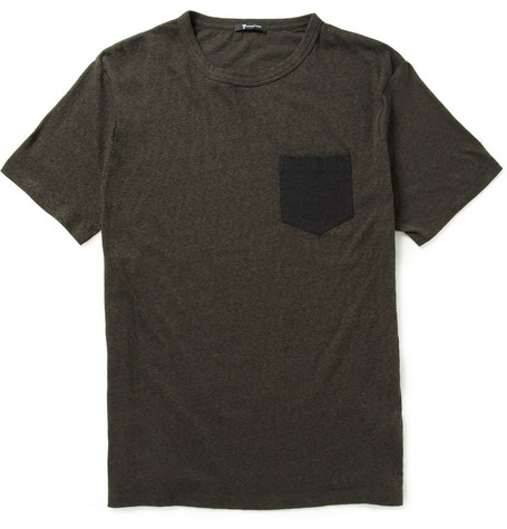 Alexander Wang Contrast-Pocket Cotton-Jersey T-Shirt