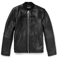 Alexander Wang Distressed Shearling Bomber Jacket