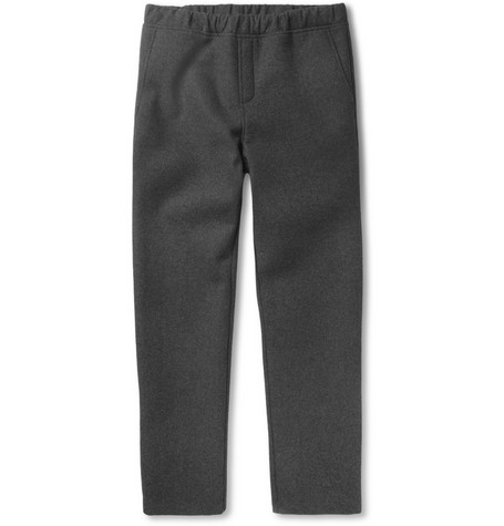 Alexander Wang Bonded Felt and Neoprene Sweatpants