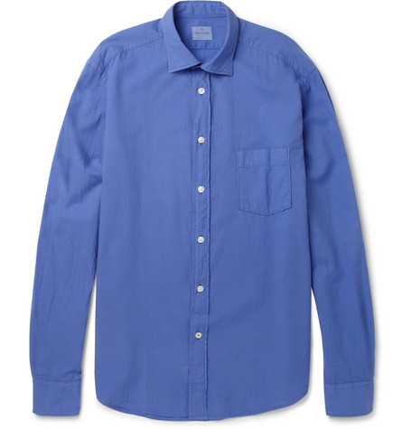 Hartford Brushed-Cotton Shirt