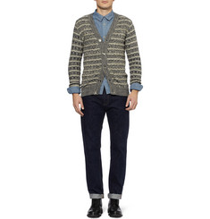 S.N.S. Herning Textured-Knit Wool Cardigan