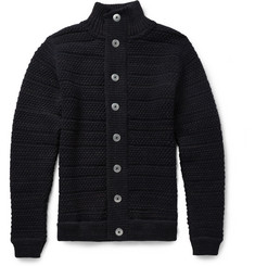 S.N.S. Herning Bubble-Knit Wool Cardigan