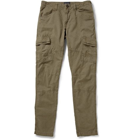 J Brand Trooper Washed Cotton-Twill Cargo Trousers
