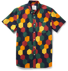 Saturdays Surf NYC Esquina Printed Cotton Shirt