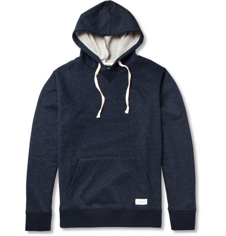 Saturdays Surf NYC Ditch Flecked Cotton-Blend Jersey Hoodie