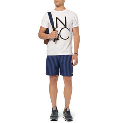 Saturdays Surf NYC Striped Mid-Length Swim Shorts