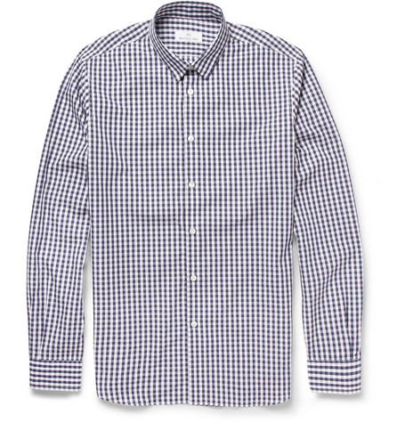 Hentsch Man Friday Slim-Fit Gingham Check Cotton Shirt