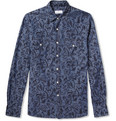 Hentsch Man - Benny Printed Cotton-Chambray Shirt