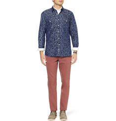 Hentsch Man Benny Printed Cotton-Chambray Shirt