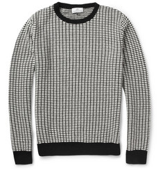 Hentsch Man Patterned-Knit Wool Sweater