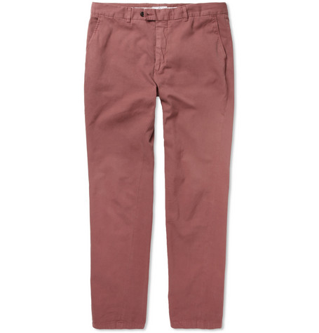 Hentsch Man Regular-Fit Brushed-Cotton Chinos