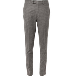 Hentsch Man Regular-Fit Check Wool-Blend Trousers