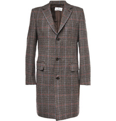 Hentsch Man Slim-Fit Houndstooth Wool Overcoat
