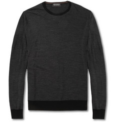 John Smedley Tansley Striped Merino Wool Sweater
