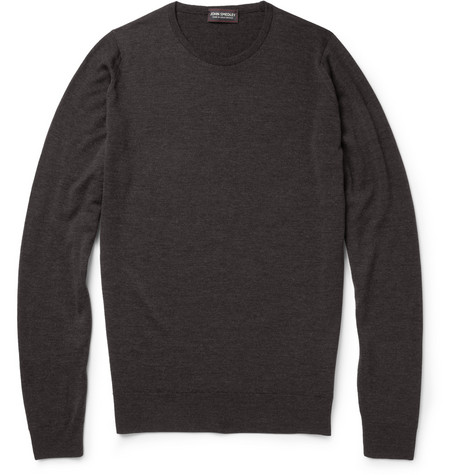 John Smedley Cleves Slim-Fit Flecked Merino Wool Sweater