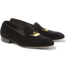 Church's Sovereign Embroidered Velvet Slippers
