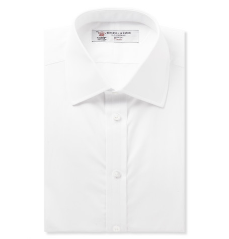 Turnbull & Asser White Double-Cuff Cotton Shirt