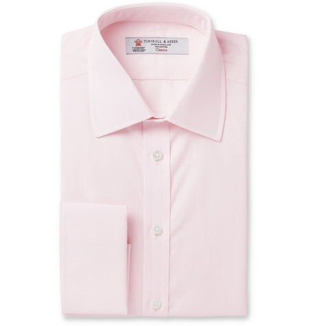 Pink Double-cuff Cotton Shirt - Pink