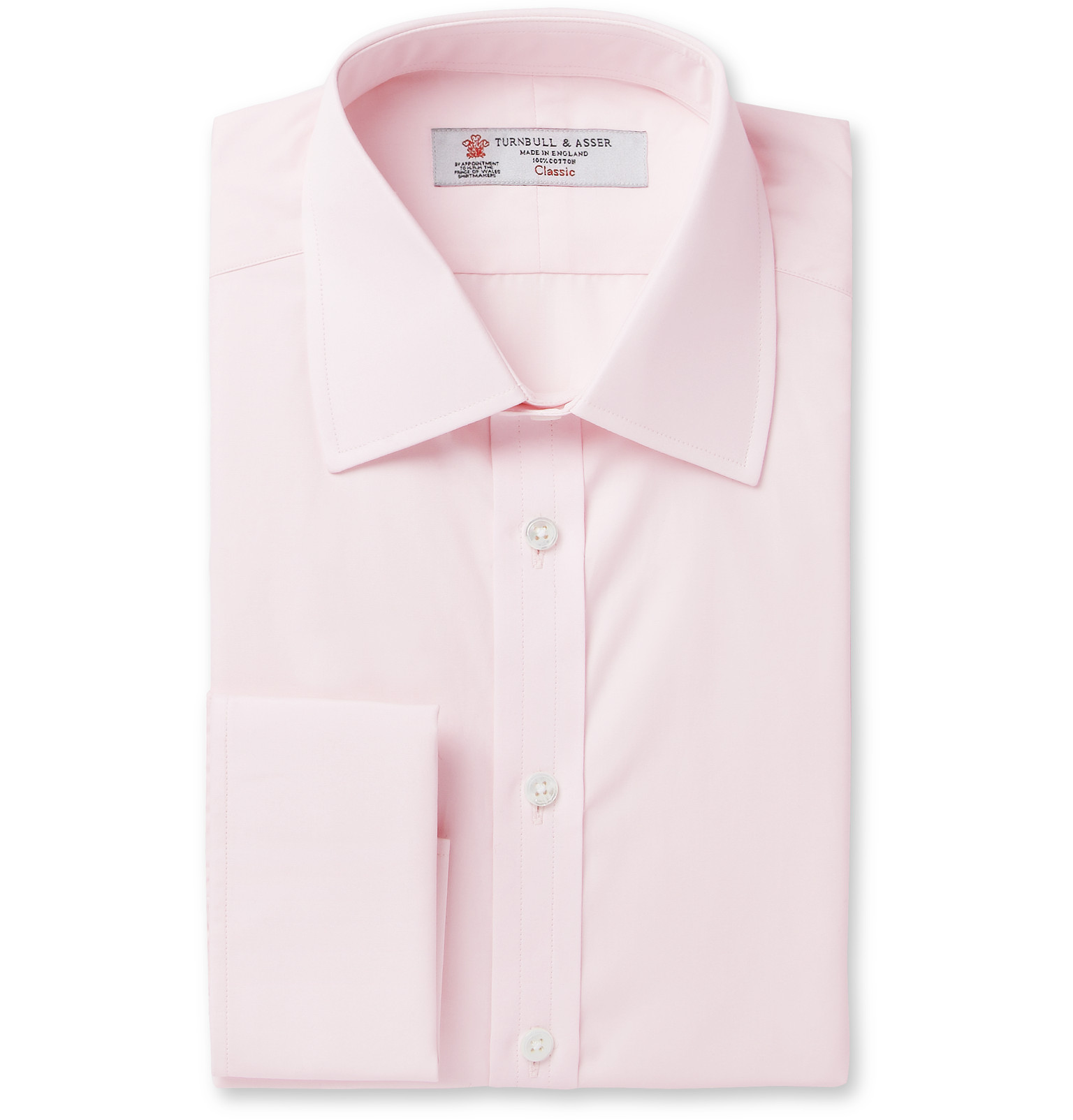 Turnbull & Asser - Pink Double-Cuff Cotton Shirt