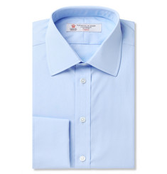 Turnbull & Asser - Blue Double-Cuff Cotton Shirt