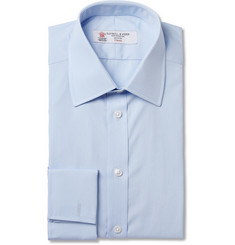 Turnbull & Asser Light Blue Double-Cuff Cotton Shirt