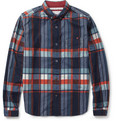 White Mountaineering - Check Brushed Cotton-Flannel Shirt