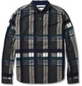White Mountaineering Check Brushed Cotton-Flannel Shirt