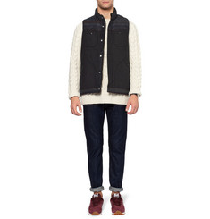 White Mountaineering Patterned Trim Quilted Gilet