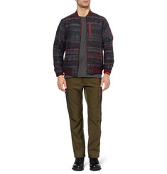 White Mountaineering Patterned Padded Wool-Blend Bomber Jacket