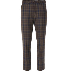 White Mountaineering Slim-Fit Check Wool Trousers