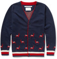 White Mountaineering Patterned Wool Cardigan