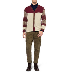 White Mountaineering Patterned Wool and Angora-Blend Cardigan