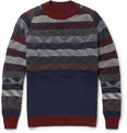 White Mountaineering Patterned Knitted-Wool Sweater