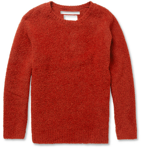 White Mountaineering Textured Wool-Blend Sweater