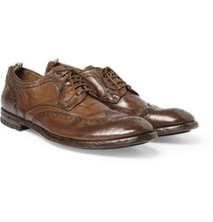Officine Creative Burnished Leather Wingtip Brogues